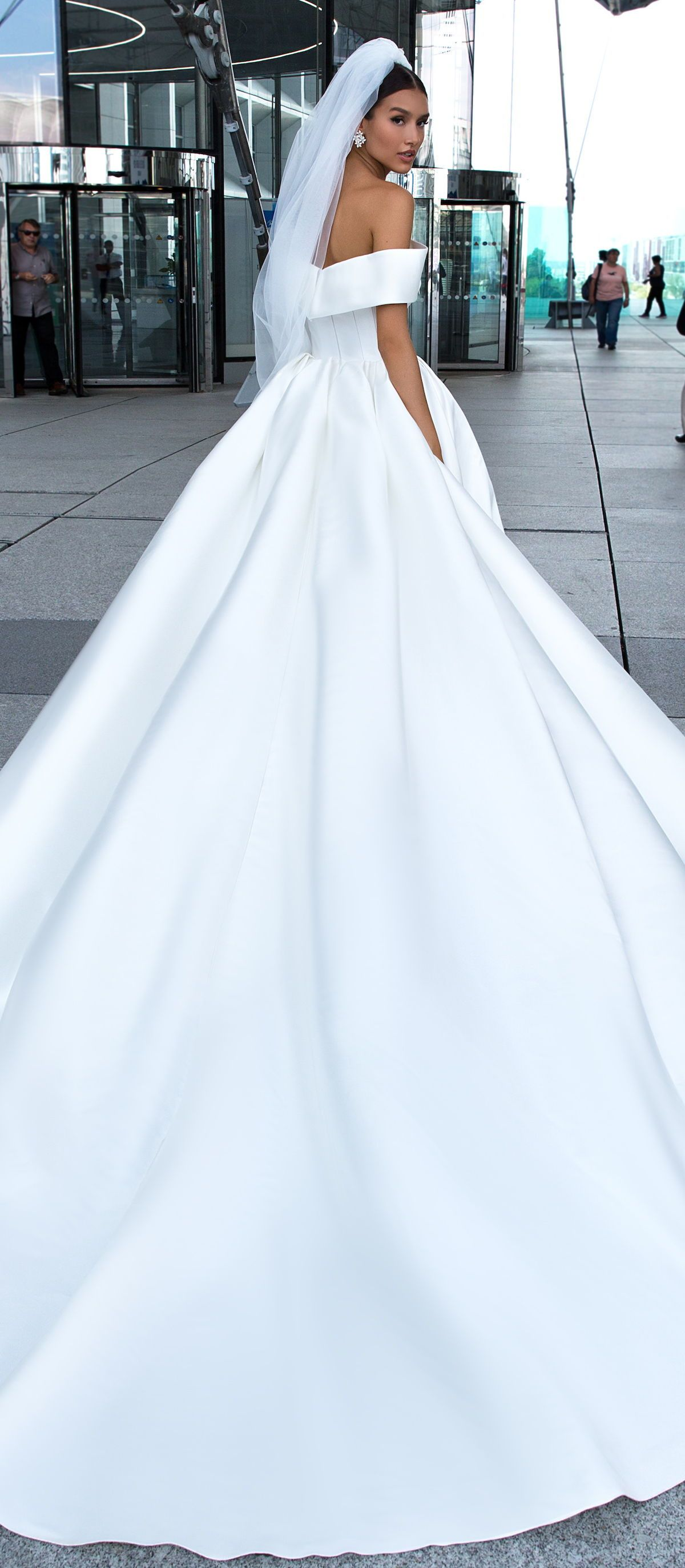 Crystal Design Ball Gown Wedding Dress Claide Simple Princess Bridal Gown Off The Shoulder Ball Gown Wedding Dress Wedding Dresses Princess Wedding Dresses