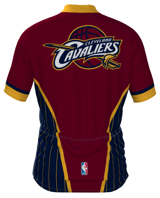 Cleveland Cavaliers Wind Star Cycling Jersey - Back view. FREE Shipping  inside the US. 1054f820a