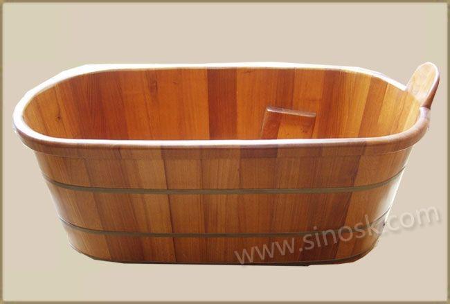 Teak Bathtub   master bath   Pinterest   Bathtubs, Teak and Wood bathtub