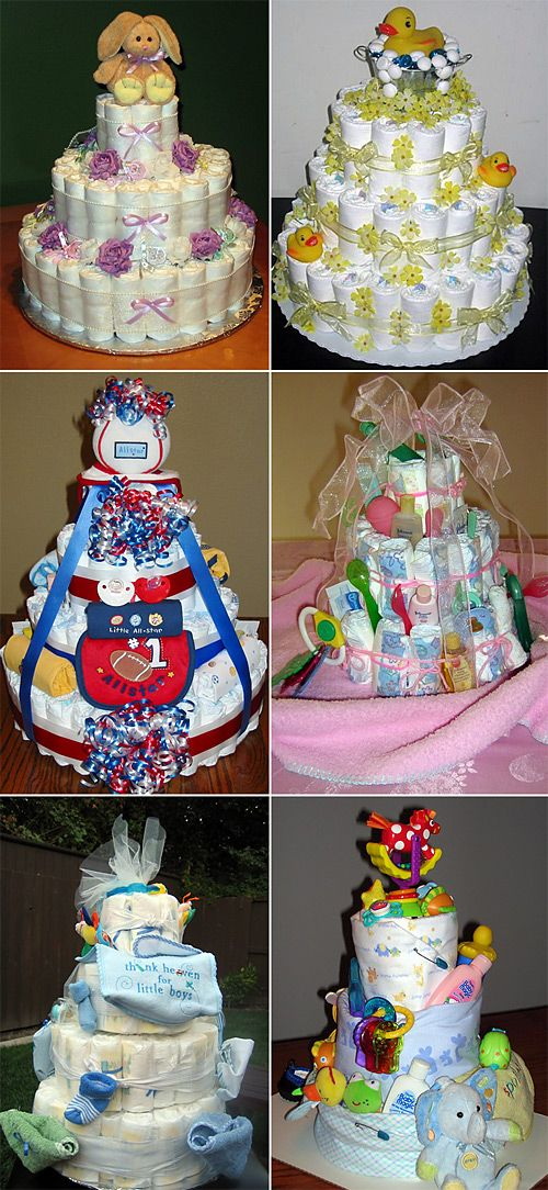baby shower diaper cakes in pictures baby shower bebe. Black Bedroom Furniture Sets. Home Design Ideas