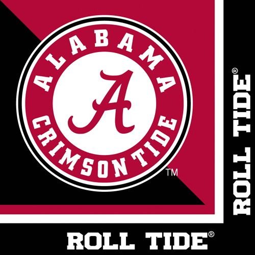 NCAA Alabama Crimson Tide Car Flag Circle A Logo with Free Wall Bracket