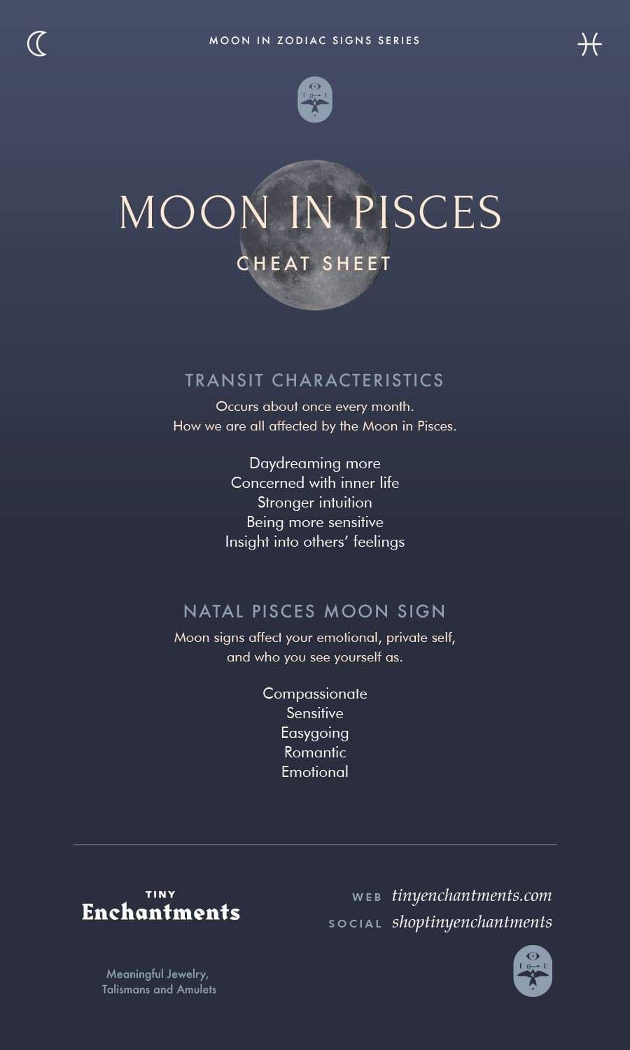 Moon in the Signs Cont'd: Moon in Libra through Moon in Pisces