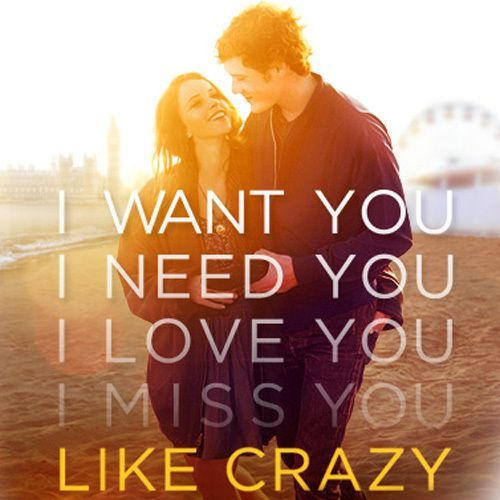 awesome Like Crazy. Anton Yelchin and Felicity Jones. Lovely film about a new romance.... Best Quotes Love Check more at http://bestquotes.name/pin/100589/