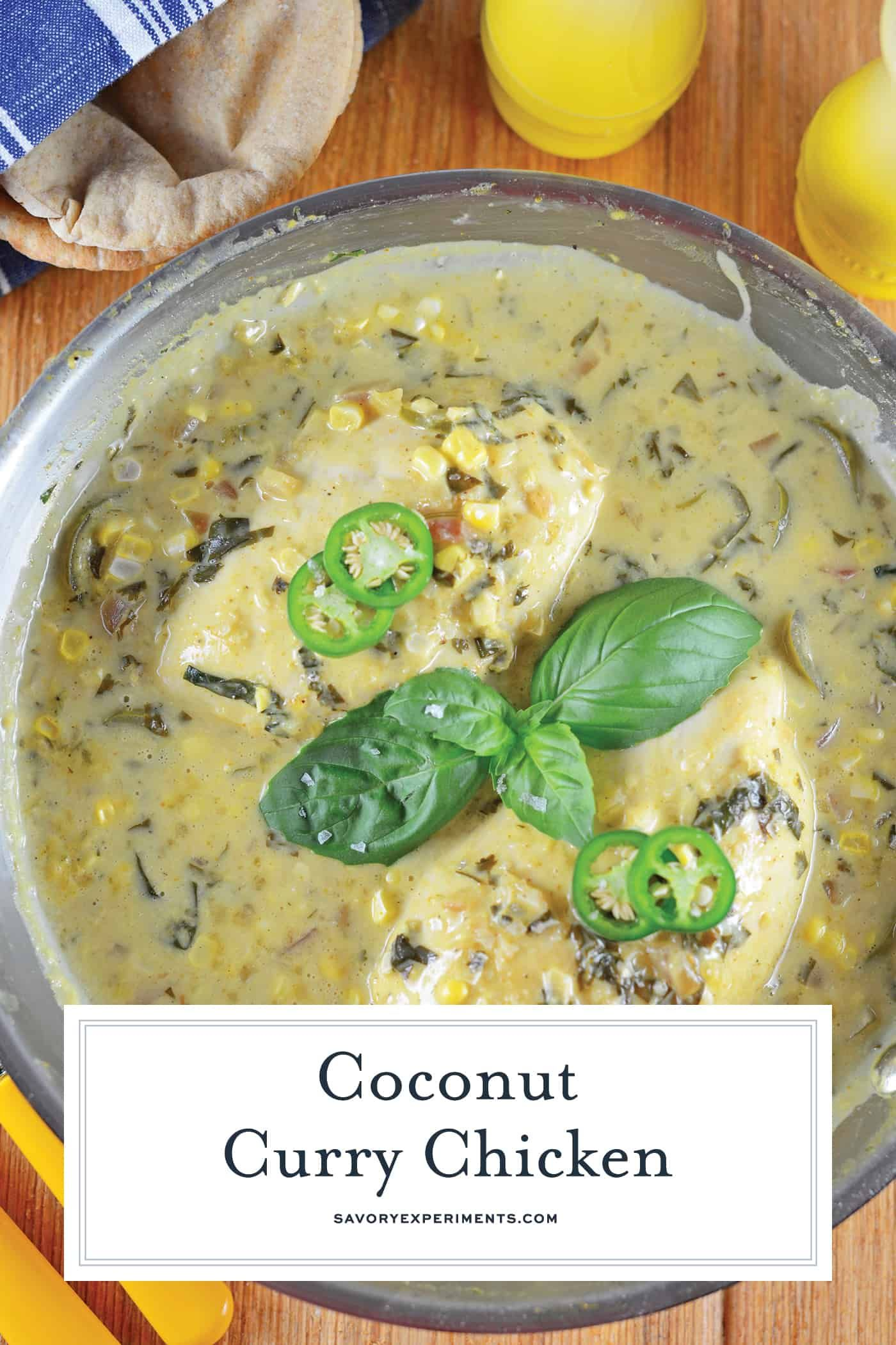 Coconut Chicken Curry Is An Easy Classic Indian Recipe Using Only