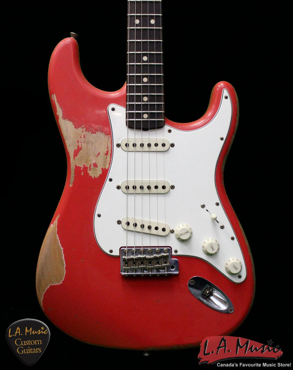 Fender Custom Shop L Series 1964 Stratocaster Super Heavy Relic Fiesta Red Rosewood 9231990840 Serial Number L10634