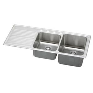 Elkay lustertone top mount stainless steel 48x22x10 4 hole double elkay lustertone top mount stainless steel 48x22x10 4 hole double bowl kitchen sink with drainboard workwithnaturefo