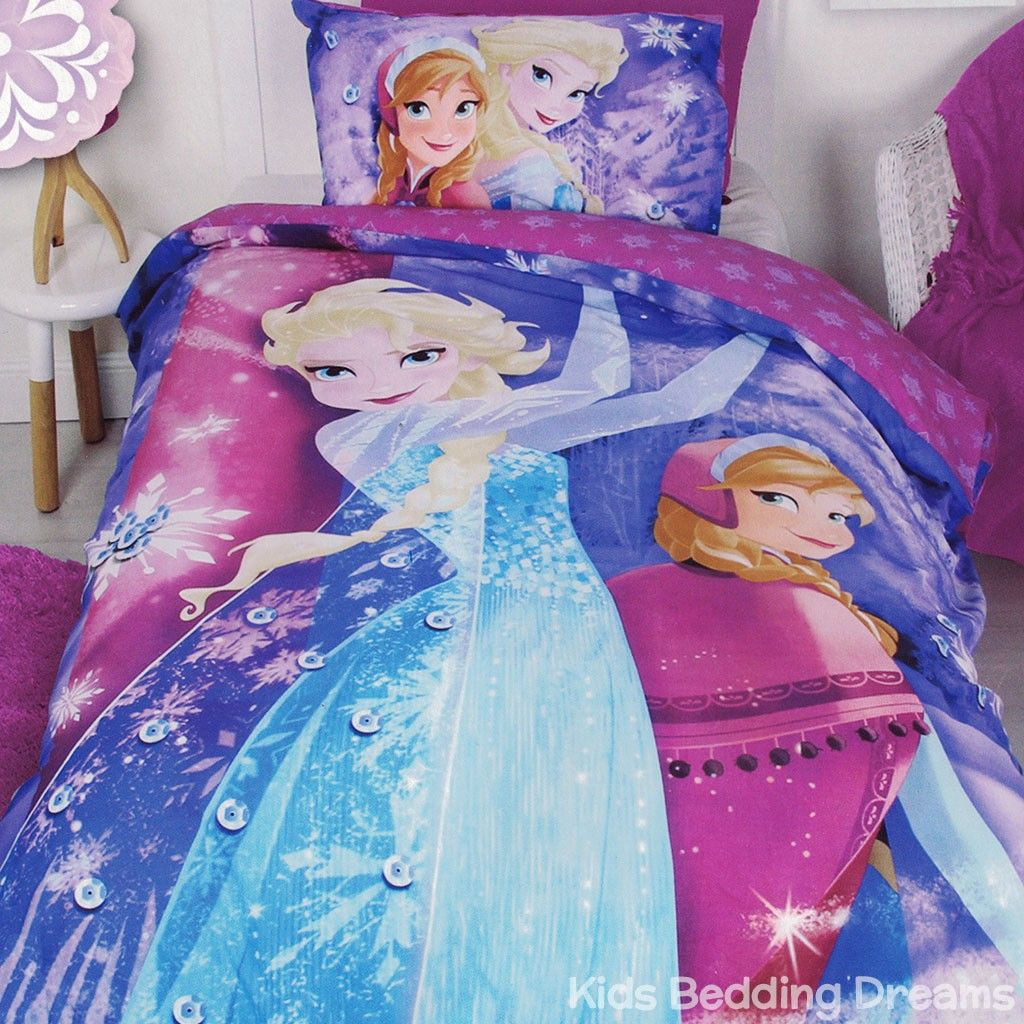 Cheap Bedroom Sets Kids Elsa From Frozen For Girls Toddler: Frozen Sparkle Quilt Cover Set