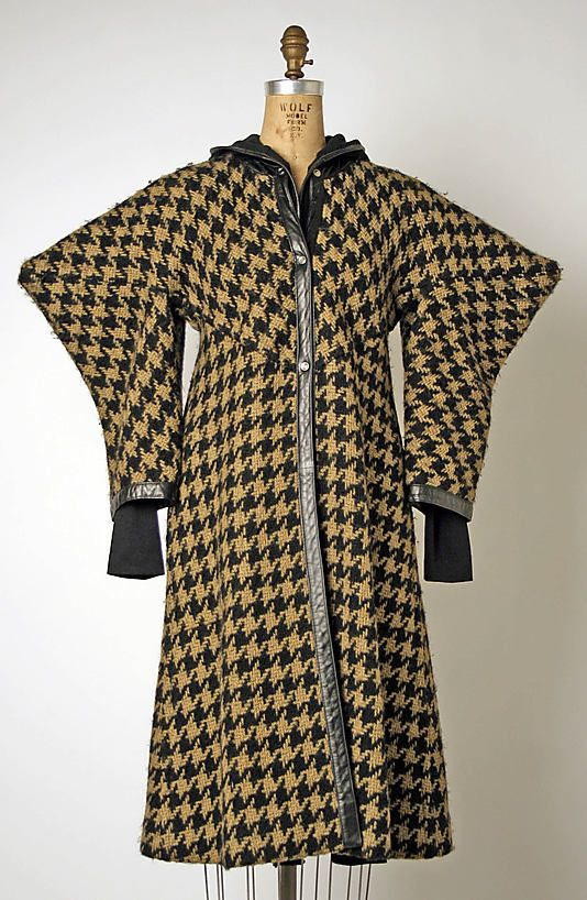 Bonnie Cashin ensemble in wool and leather. Fall/winter 1963-64. Gift of Helen and Philip Sills Collection of Bonnie Cashin Clothes, 1979. The Metropolitan Museum of Art online collection.