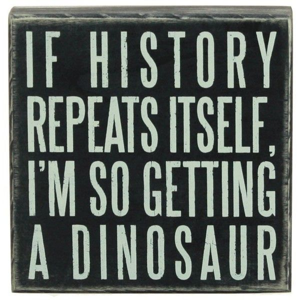 Primitives by Kathy Box Sign, 6 by 6-Inch, Dinosaur ($14) ❤ liked ...