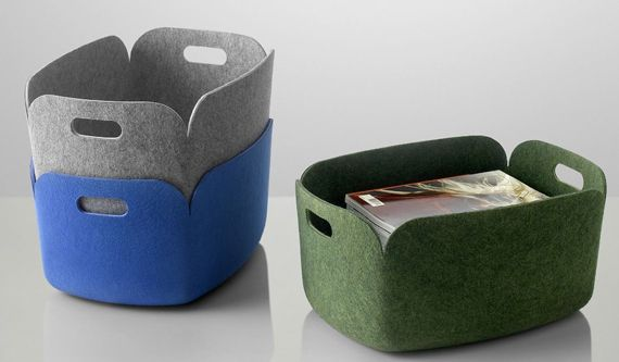 Muuto Restore storage baskets from recycled plastic bottles & restore basket - modern cat bed made from recycled felt | ideas for ...