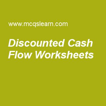 Discounted Cash Flow Worksheets Cost Accounting Pinterest Cost