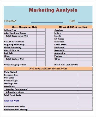 Marketing Analysis Templates Marketing E Vendas Marketing