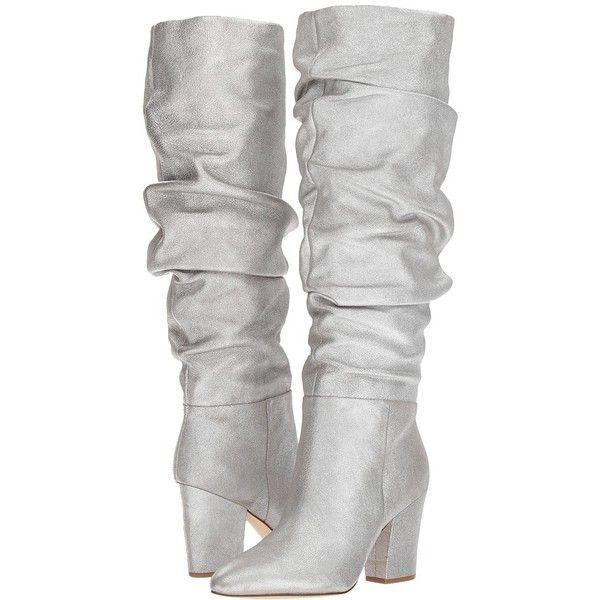 e831ce46f5a Nine West Scastien (Silver Metallic) Women's Boots ($199) ❤ liked ...