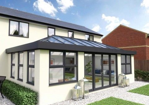 3m X 4m Skyroom Orangery Replacment Roof Double Hip Edwardian In 2020 Roof Lantern Flat Roof House Flat Roof Skylights