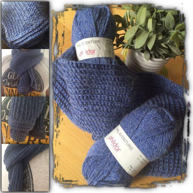Au Crochet qui m'aille...: Une écharpe masculine toute douce pour l'hiver