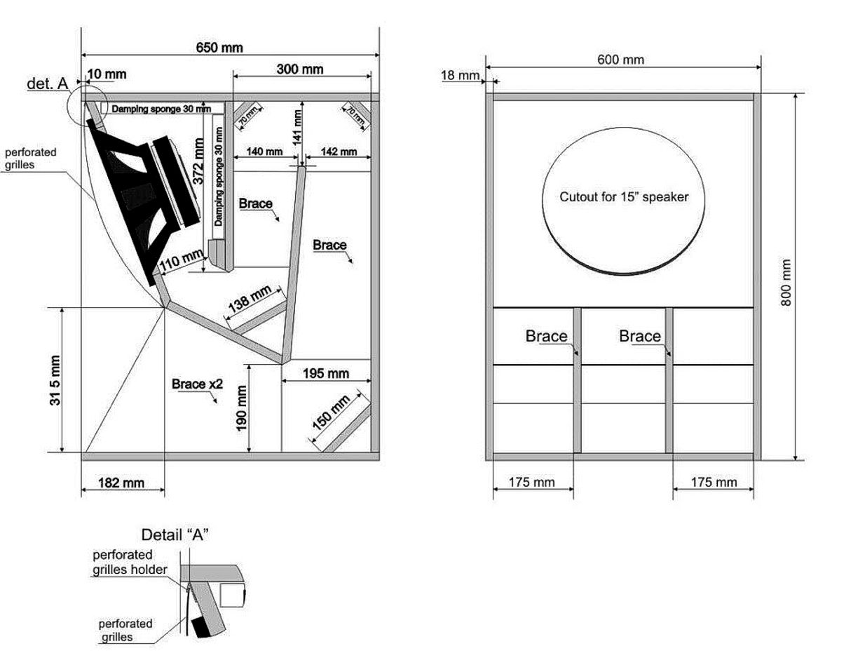 Pin By Miguel Delgallego Quintero On Speakers Design Plans Speaker Plans Subwoofer Box Design Box Design