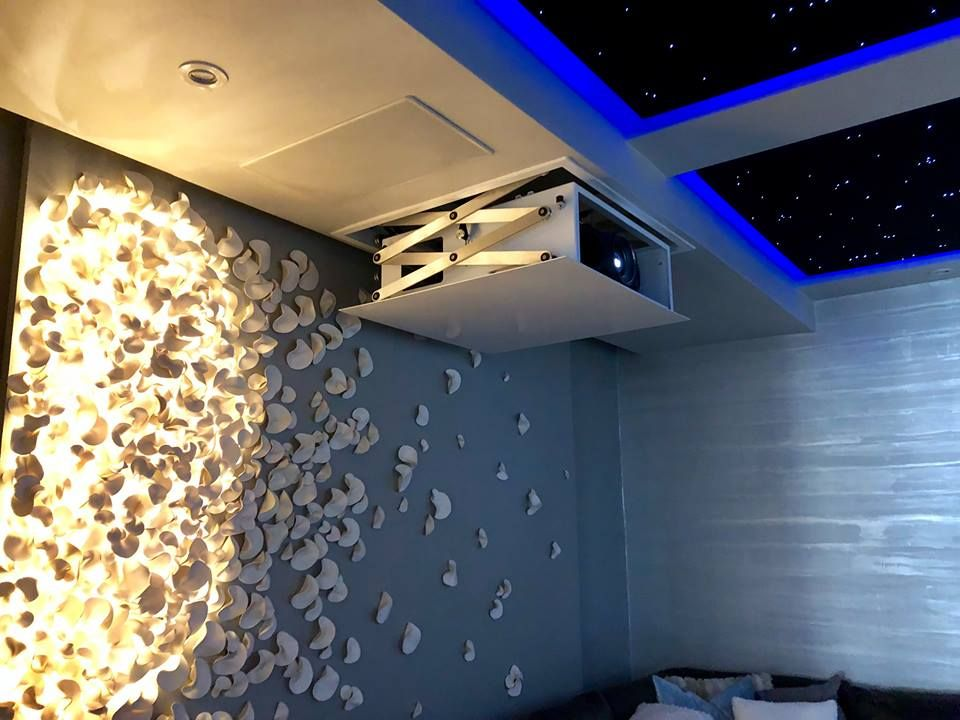 Home Theater | Star ceiling, Home, Home theater