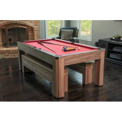 Hathaway Maverick Table Tennis And Pool Table Black Red Blue 7
