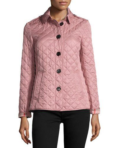 TV4FW Burberry Ashurst Quilted Jacket, Pink | Clothes I Like ...