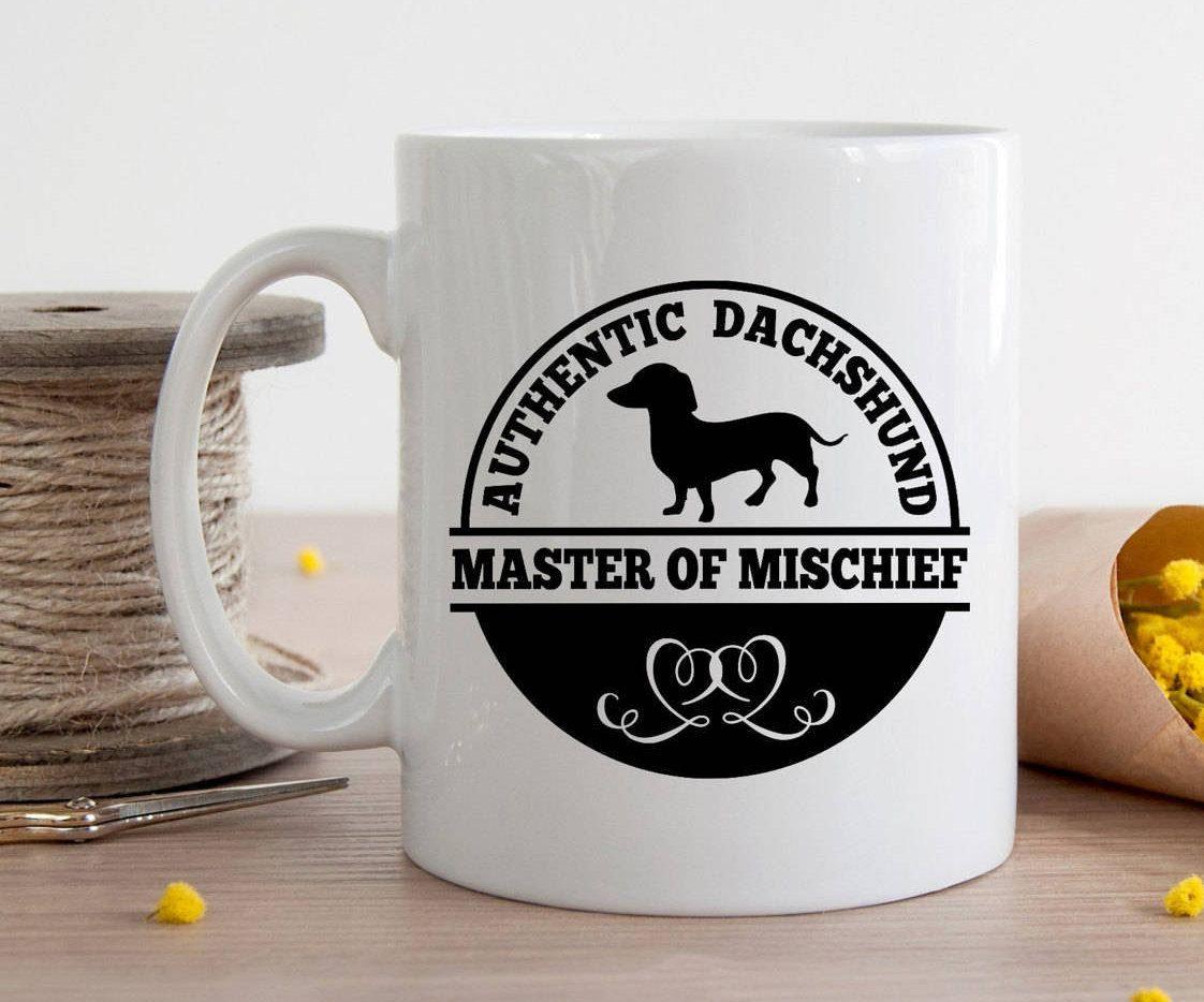 Dachshund Mug - Mischievous Dachshund Mug by MysticCustomDesignCo on Etsy