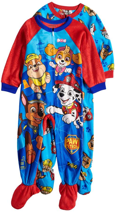 440f9d846 Toddler Boy Paw Patrol Skye, Rubble, Chase & Marshall 2-pack Fleece Footed  Pajamas