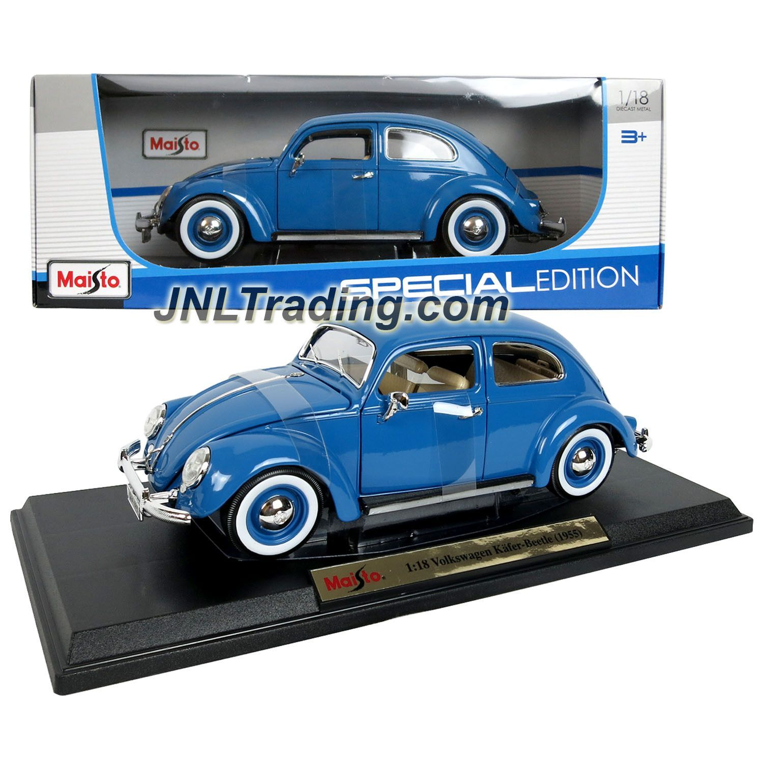Maisto special edition series 1 18 scale die cast car set blue 1955 volkswagen