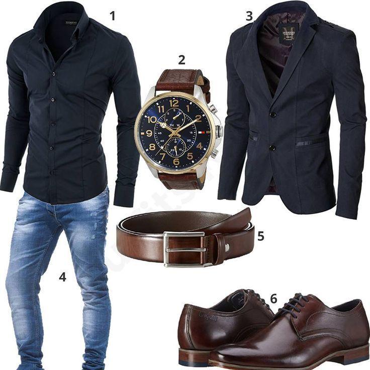Business Stil für Männer mit Hemd und Jacke #business #jacke