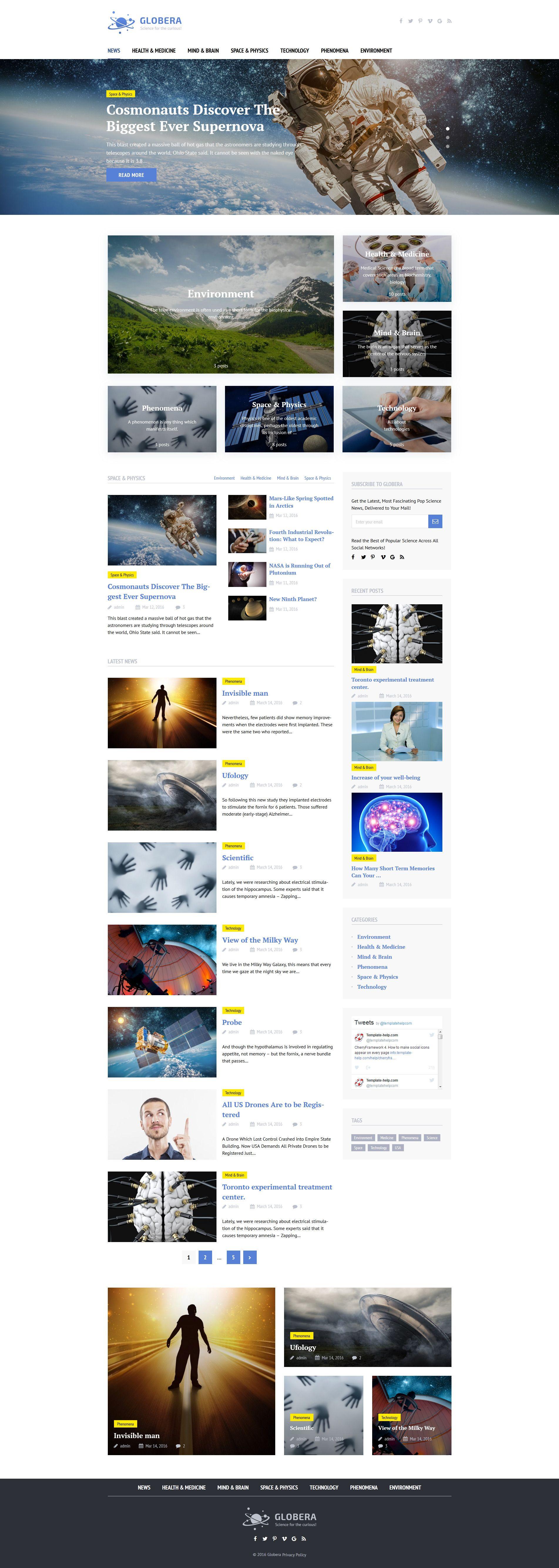 science news portal magazine wordpress theme new website