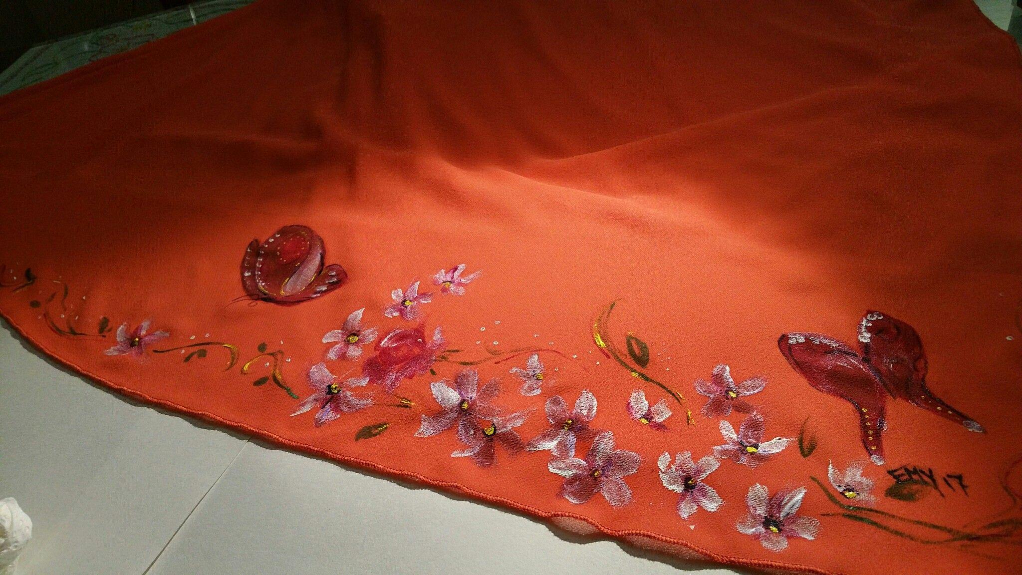decorazione orientale su stoffa #decorazionesustoffa #pittura ... - Decorazioni Su Stoffa