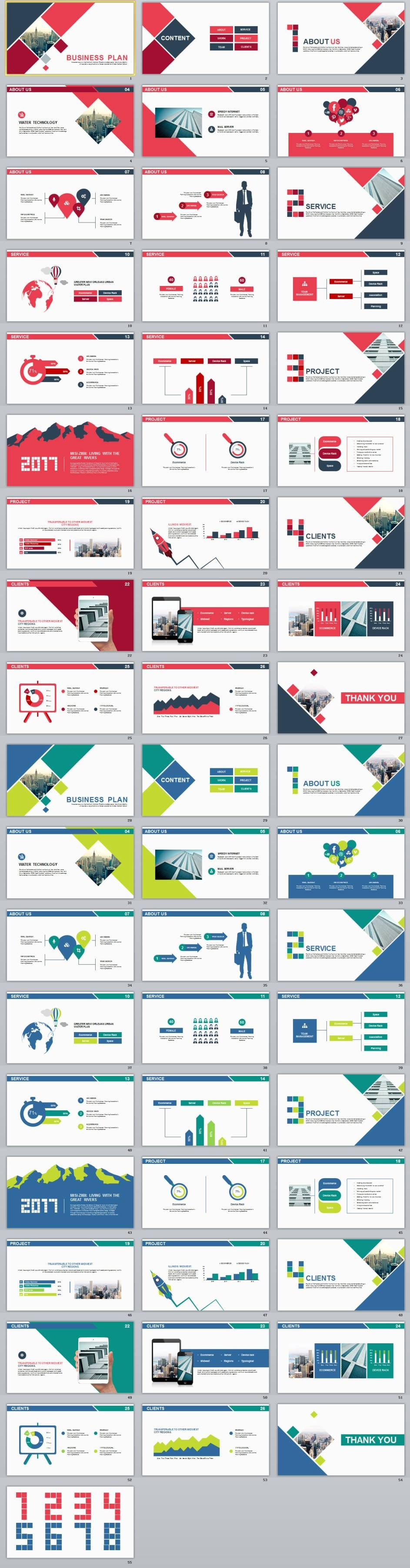 In Simple Business Plan Powerpoint Template  Powerpoint
