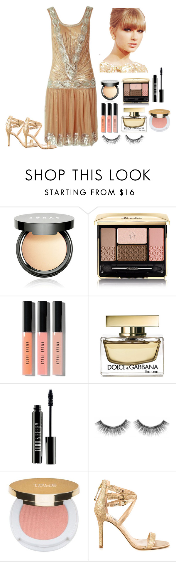 """Christmas Party #1"" by sunshine24-7-1 ❤ liked on Polyvore featuring LORAC, Guerlain, Bobbi Brown Cosmetics, Lord & Berry, Sephora Collection, Isaac Mizrahi and GUESS"