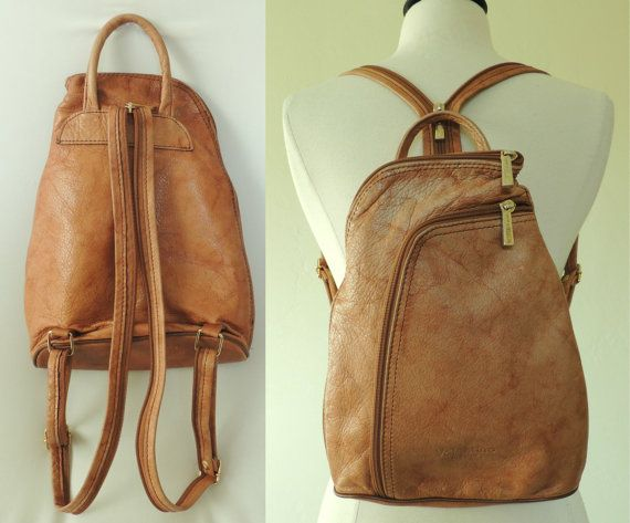 266c982d89c6 TODAY Vtg Authentic VALENTINO Italian Leather Backpack Purse ...