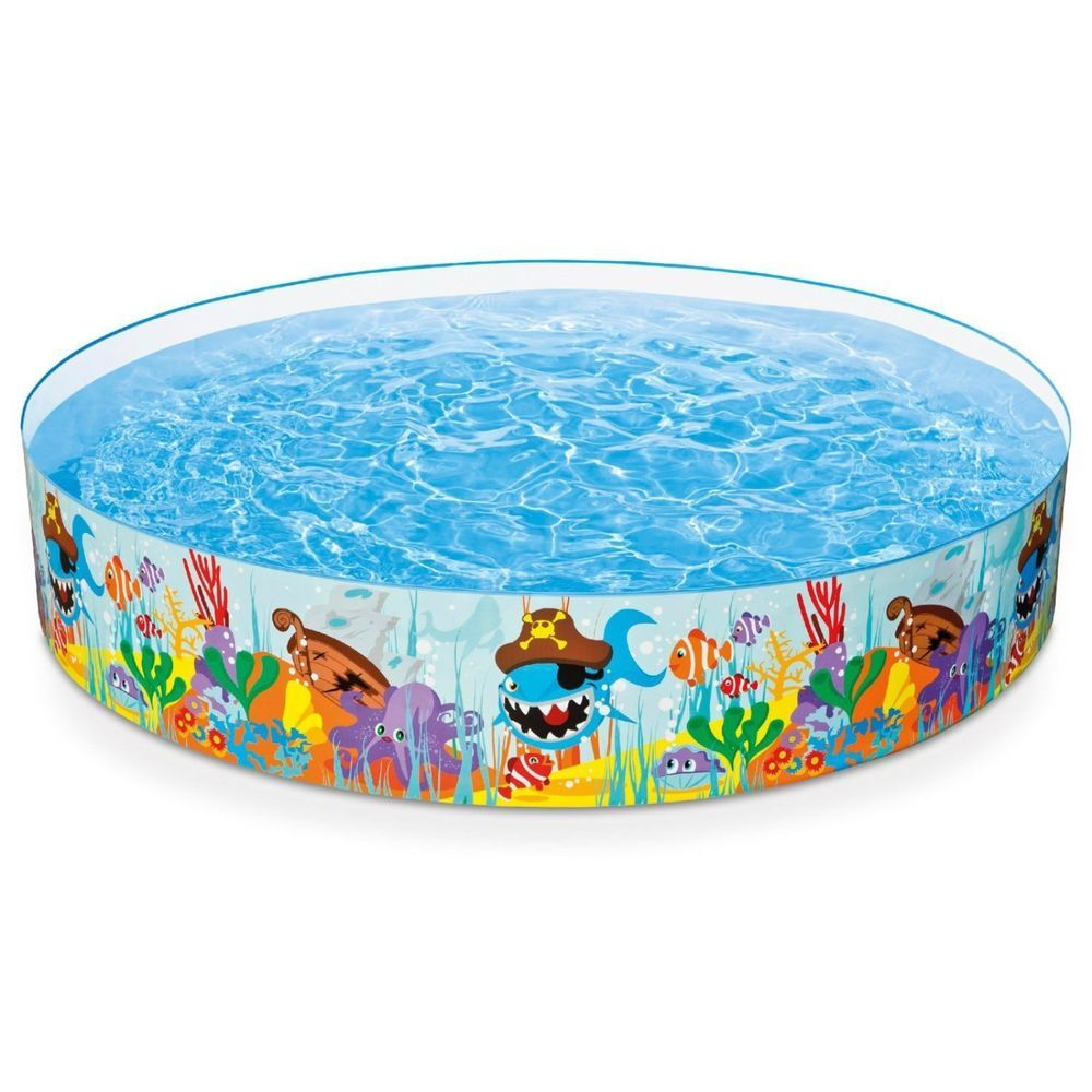 Inflatable Swimming Pool Ocean Reef Snapset Round Family 8 X18