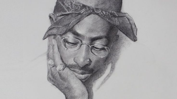 Wake and Draw #28- Tupac Shakur in Charcoal -   15 beauty Drawings of boys ideas