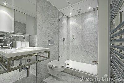 Http Thumbs Dreamstime Com X Modern En Suite Marble Bathroom White 14942516 Jpg White Marble Bathrooms Modern Marble Bathroom Marble Bathroom