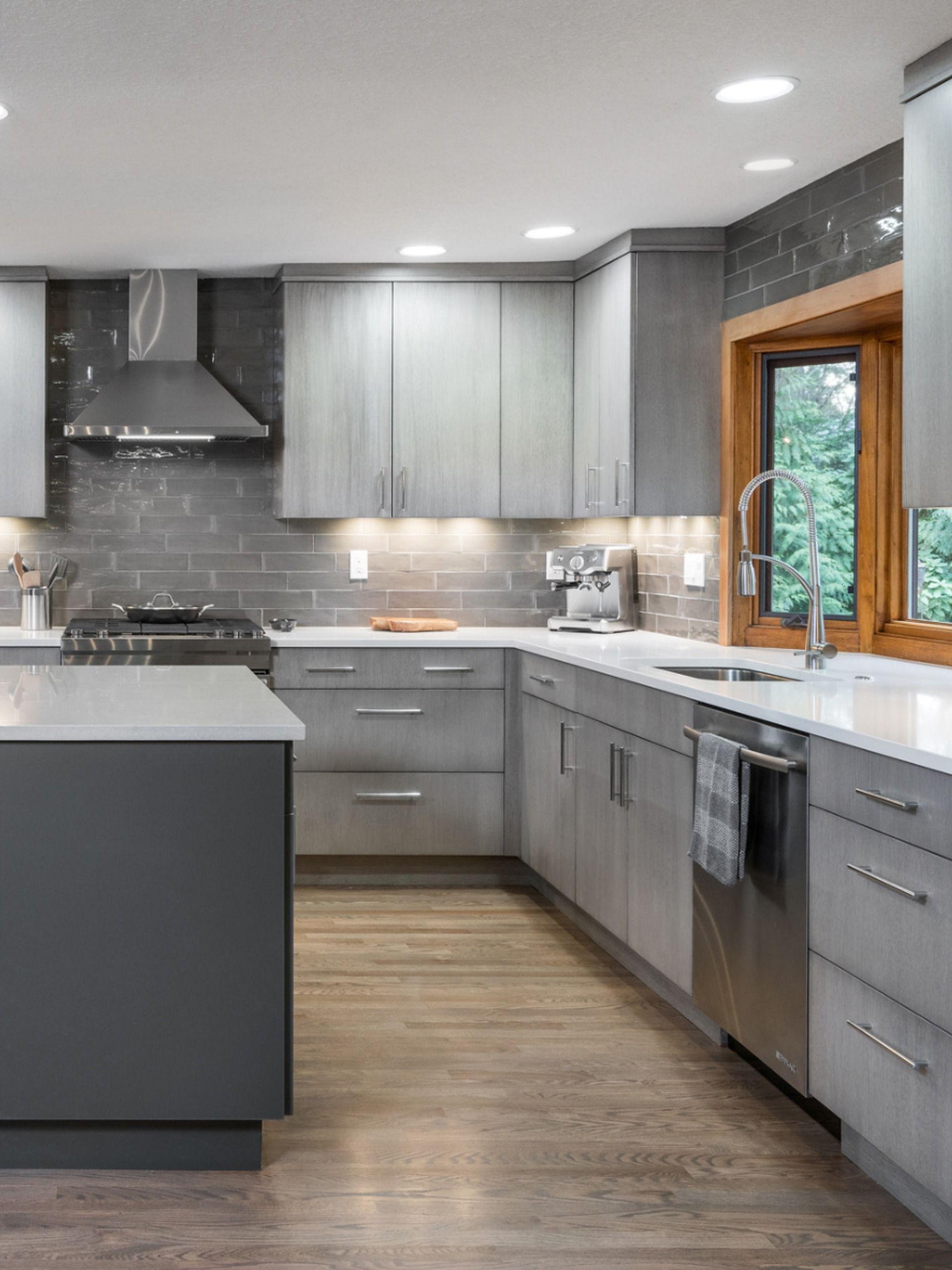 Warm Grey Kitchen Remodel Nw Contemporary Contemporary Grey Kitchen Kitchen Room Design Grey Kitchen Designs