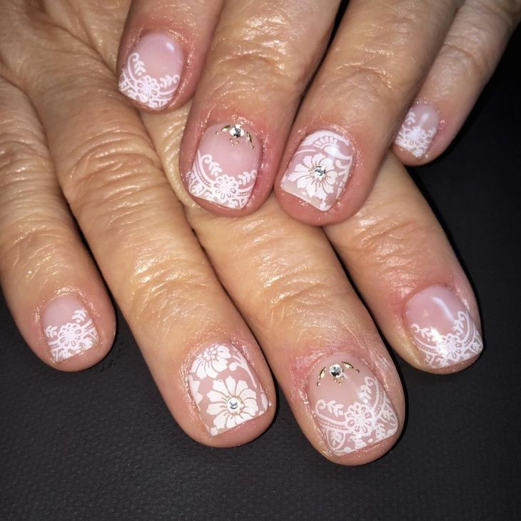 Wedding Design - Shellac Nails | Beach wedding nails ...