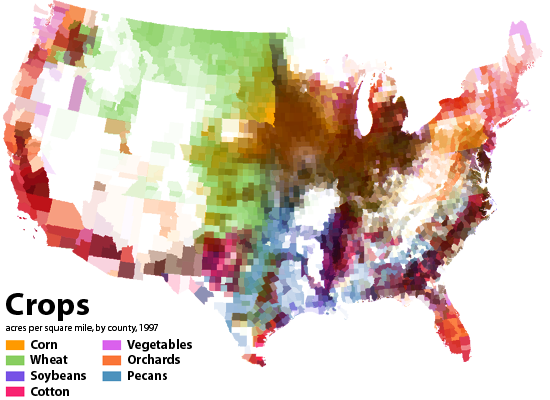 With The Advent Of Google Maps The World Needs More Maps Like - Agriculture in the us map