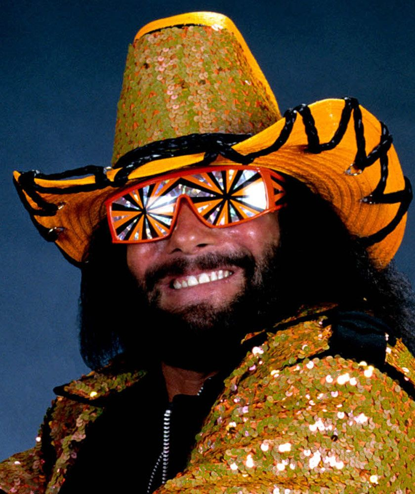 Gold Sequins Macho Man Randy Savage Famous Wrestlers Macho Man