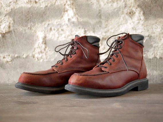 Red Wing 202 work boots 13B | Wings, Boots and Etsy