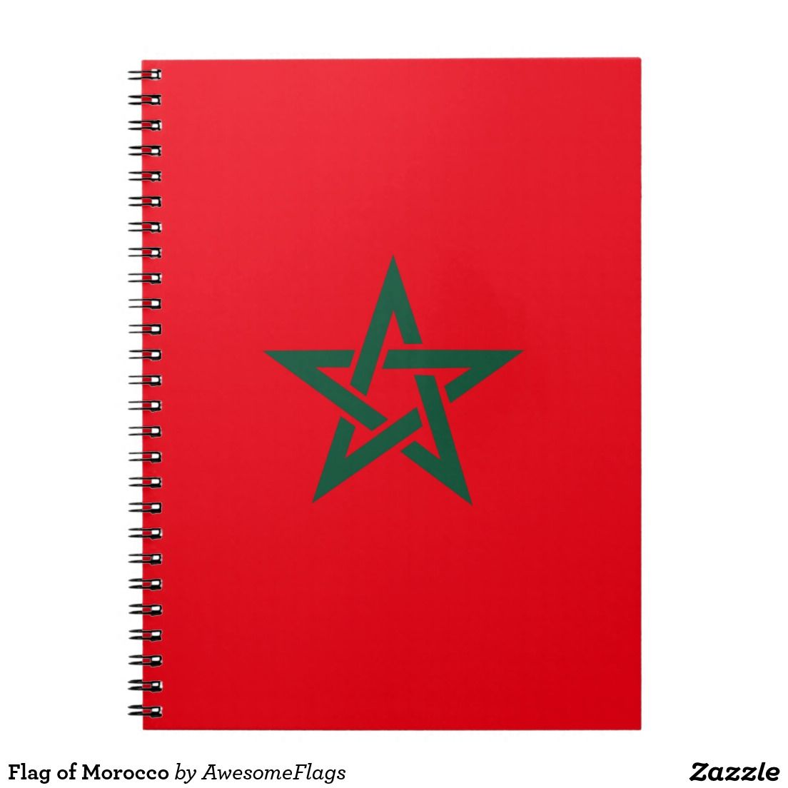 Flag of Morocco Spiral Note Books