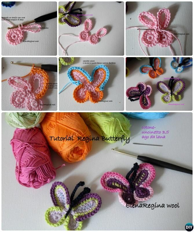 20 Crochet Butterfly Free Patterns [Picture Instructions] | Patrones ...