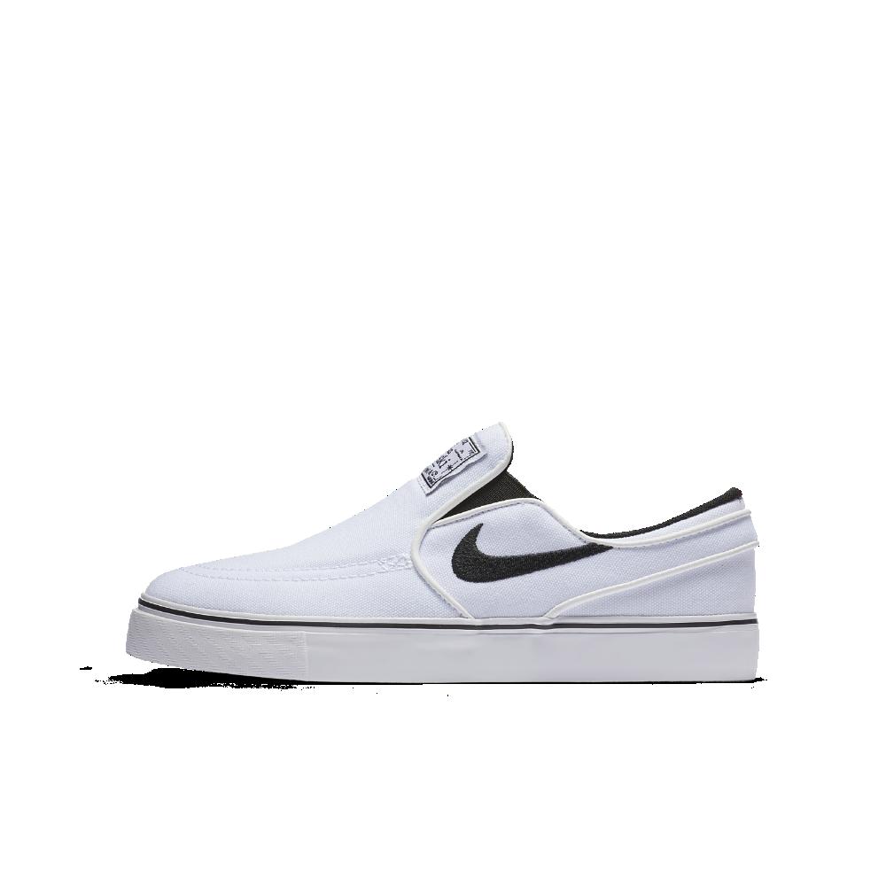save off 03a54 4c938 Nike SB Stefan Janoski Canvas Slip-on Big Kids  Skateboarding Shoe Size  6.5Y (White)