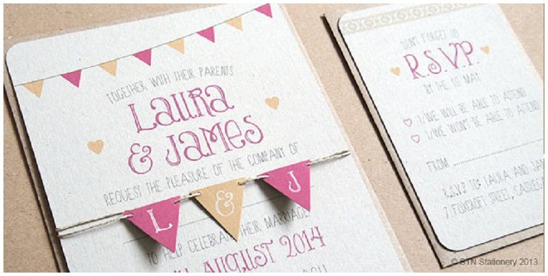 Die Schönsten Einladungskarten Für Hochzeiten Von Something New Stationery  Bei Etsy   Hochzeitsblog   The Little Wedding Corner