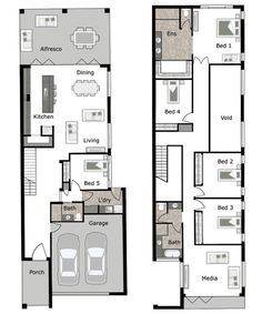 Lincoln is a small lot and narrow block home design by GW Homes, the ...