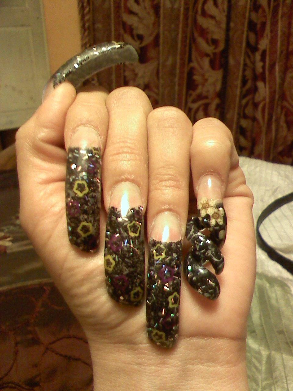 glitter acrylic nail designs glitter acrylic nails
