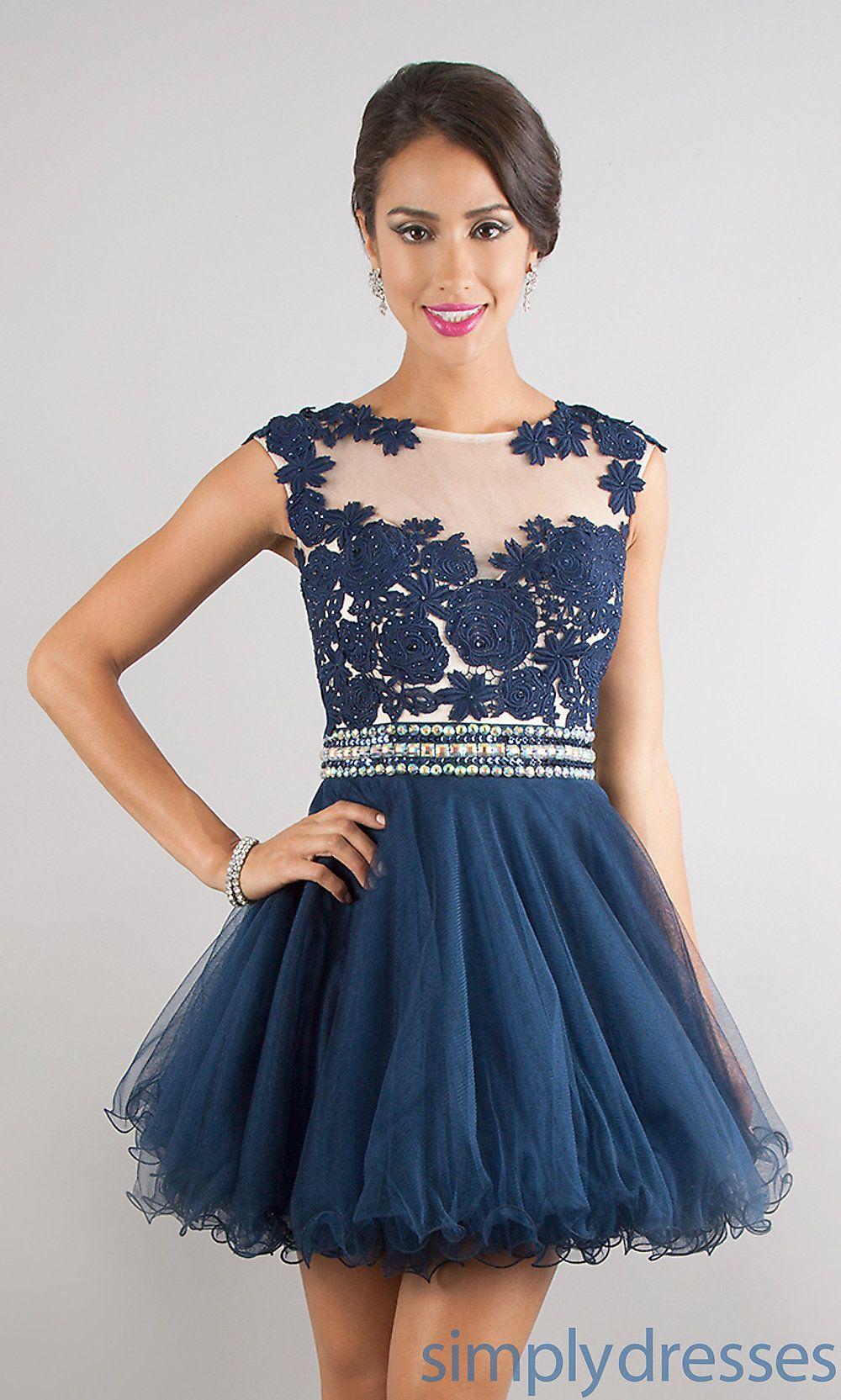 Short sleeveless prom dress on chiq iq