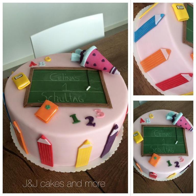 First Day Of School Torte Einschulung Einschulungstorte Schulkuchen