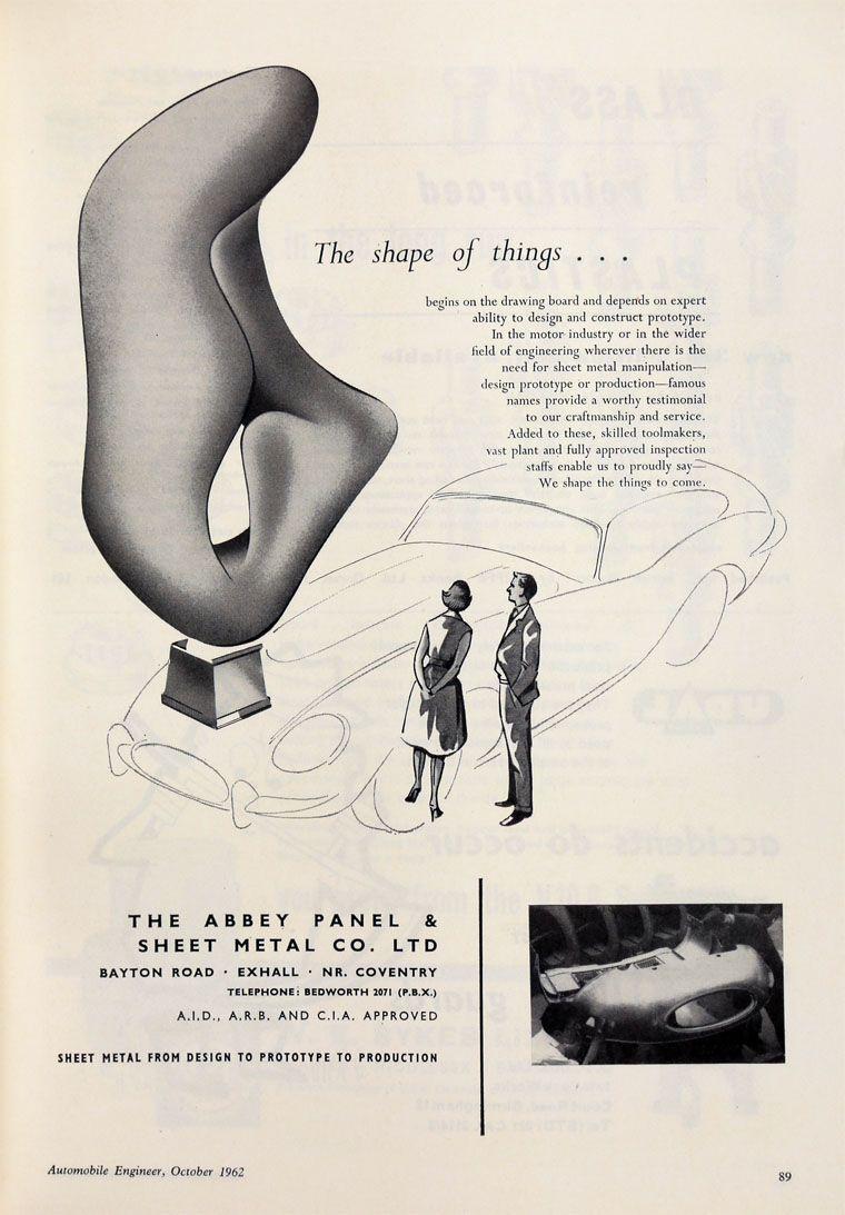 Pin By Emile Guida On Jaguar Sheet Metal Work Metal Working Vintage Ads