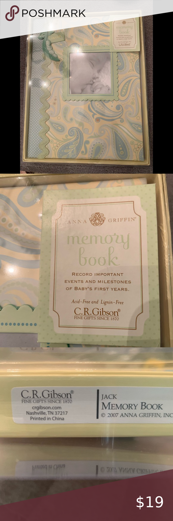 CR Gibson Sweet Pea Baby Memory Book